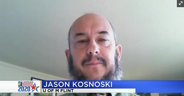 Associate Professor Jason Kosnoski on WNEM