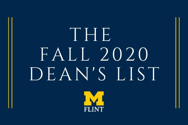 Fall 2020 Dean's List graphic