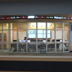 Photo of the Finance Lab inside Riverfront Center