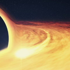 A star becoming a black hole