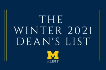 Winter 2021 Dean's List graphic