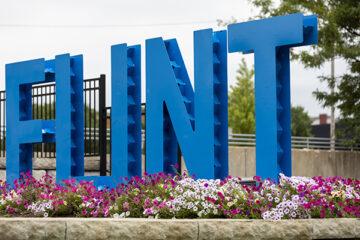 Photo of Flint sign in Downtown Flint
